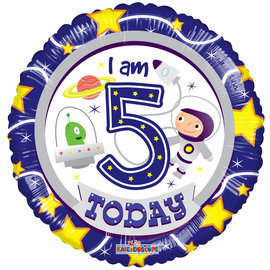 Foil Balloon -I Am 5 Today 18""