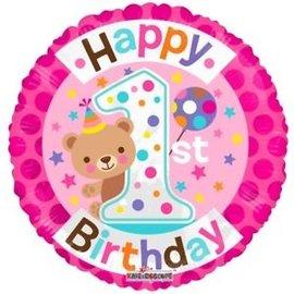 Foil-Happy 1st Birthday/Teady