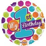 Foil Balloom -My 1st Birthday