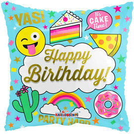 Foil Balloon-Happy Birthday - Its Cakes Time - 18""