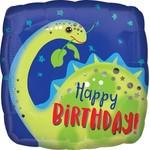 "Foil Balloon - Dino-Happy Birthday -18"""