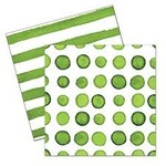 Beverage Napkins- Dotted & Stripped- 24pk-3ply