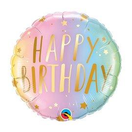 "Foil-Happy Birthday/Gold Stars 18"""