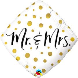 """Foil Balloon- Mr. & Mrs.- 18"""""""