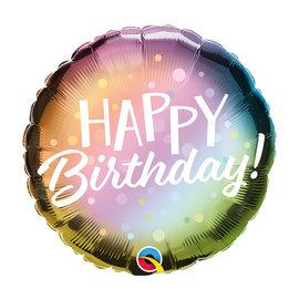 "Foil-Happy Birthday Metallic Ombre Dots 18"""