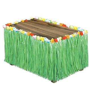 Table Skirting - Artifical Grass and Flowers