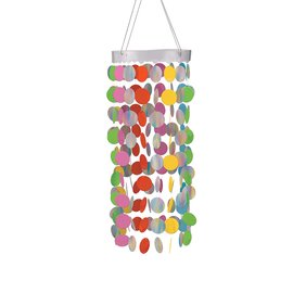 """Hanging Circle Chandelier- Multi-color- 30"""""""