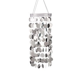 Hanging Circle Chandelier-Silver