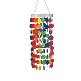 Hanging Circle Chandelier- Rainbow