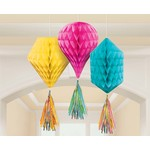 Hanging Decoration - Mini Honeycombs - Multi-Color