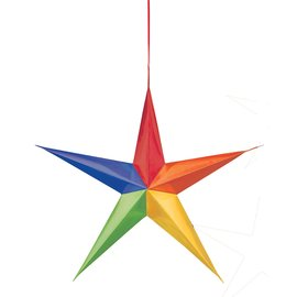 Hanging Decorations-Rainbow Stars