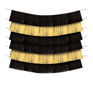 Decorating Backdrop- Black and Gold- 9pcs