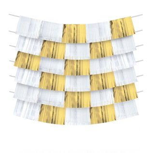 Decorating Backdrop- Gold and White- 9pcs