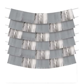 Decorating Backdrop- Silver and Grey- 9pcs
