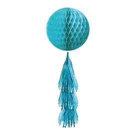 Hanging Decoration-Turquoise Honeycomb Ball