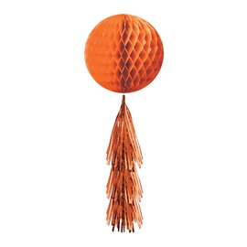 Hanging Decoration-Orange Honeycomb Ball