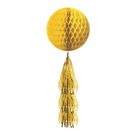 Hanging Decoration-Yellow Honeycomb Ball