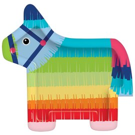 Dinner Plates-Donkey Shaped- Fiesta Time-8pk-10.5""