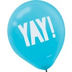 "Balloons-Latex-Shimmering Party-6pcs-12"""