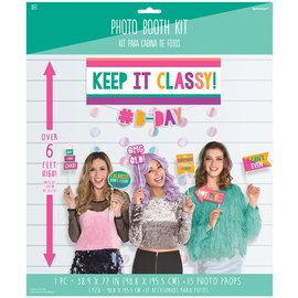 Photo Booth Kit- Young & Fabulous- 13pcs