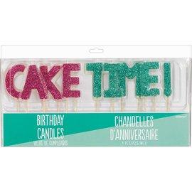 Candles- Young & Fabulous- Cake Time- 9pcs