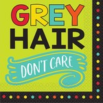 Luncheon Napkins-Over The Hill-Grey Hair
