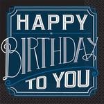 Luncheon Napkins- Happy Birthday Man- 16pk- 2ply