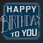 Beverage Napkins- Happy Birthday Man- 16pk- 2ply