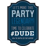 Invitations- Happy Birthday Man- 8pk