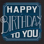 "Beverage Paper Plates- Happy Birthday Man- 8pk- 7"""