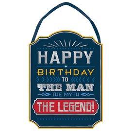 "Easel Sign- Happy Birthday Man- 10.5 x 14"""