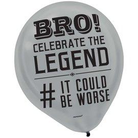 "Balloons- Latex- Happy Birthday Man- 15pk- 12"""