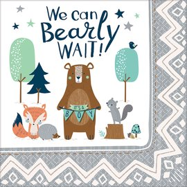 Luncheon Napkins-Bear-ly Wait-16pk-2ply