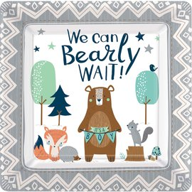 Dinner Paper Plates-Bear-ly Wait-8pk-10.5""