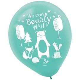 "Balloons-Latex-Bear-ly Wait-15pk-12"""