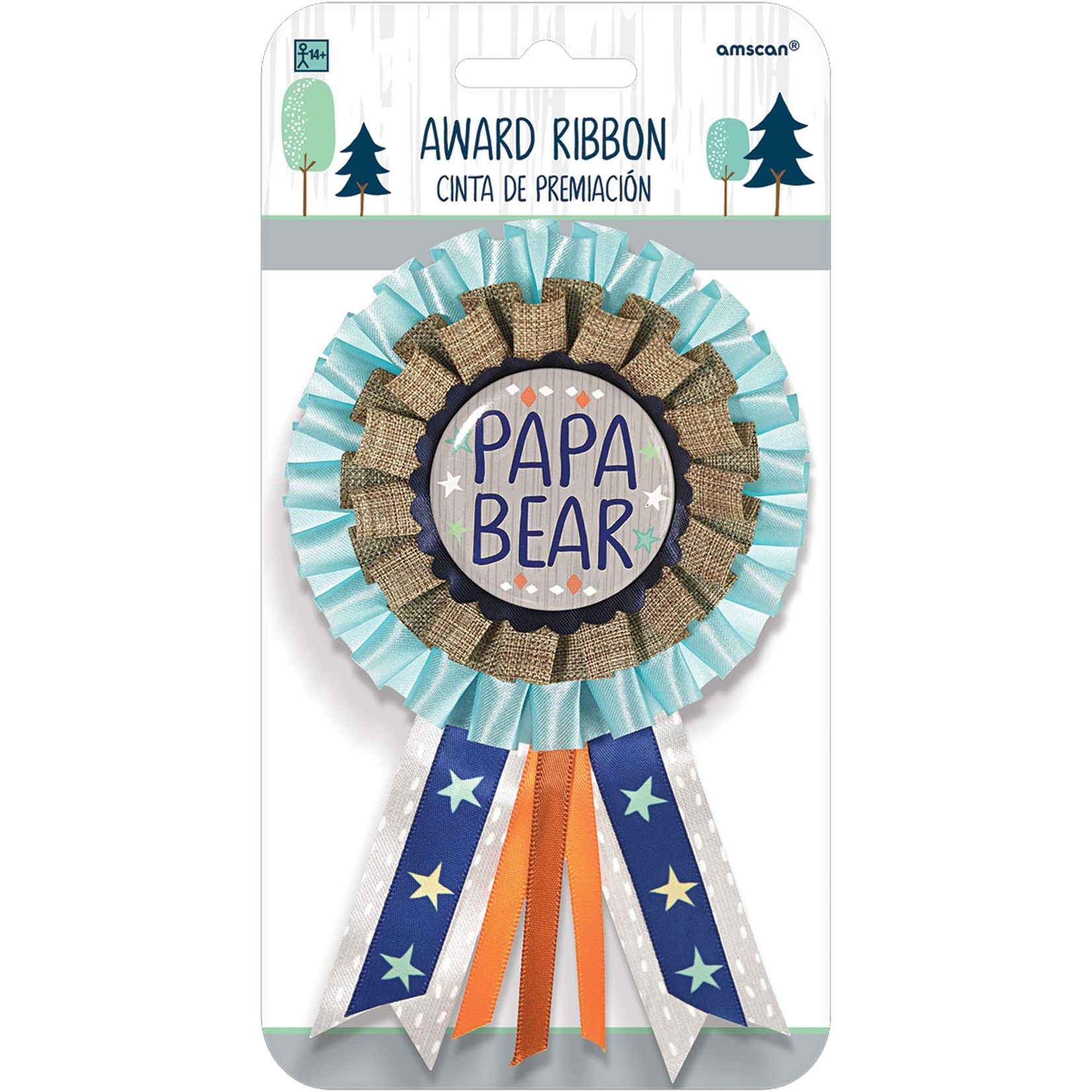 Award Ribbon-Papa Bear- Bear-ly Wait