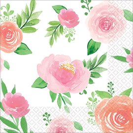Beverage Napkins-Floral Baby-16pk-2ply