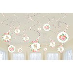 Swirl Decorations-Floral Baby-12pcs