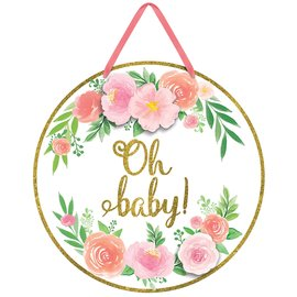 Hanging Sign-Oh Baby!-Floral Baby-1pc