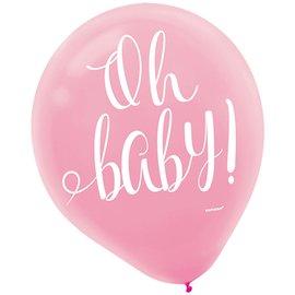 "Balloons-Latex-Floral Baby- 15pcs-12"""