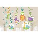 Swirl Decorations- Fisher Price- Hello Baby- 12pcs
