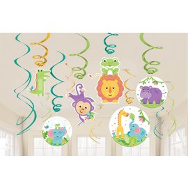 Swirl Decorations- Fisher Price- Hello Baby- 12pcs