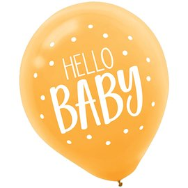 Balloons-Latex-Fisher Price-Hello Baby-15pcs-12""