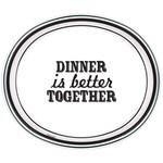 "Dinner Paper Plates-Eat and Enjoy-8pcs-12"" x 10"""