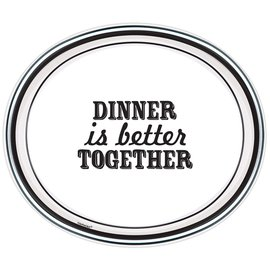 "Dinner Paper Plates-Eat and Enjoy-8pcs-12"" x 10"""