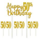 Cake Topper-Happy 50th Birthday-7pcs