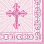 Beverage Napkins-Radiant Cross Pink-16pk-2ply