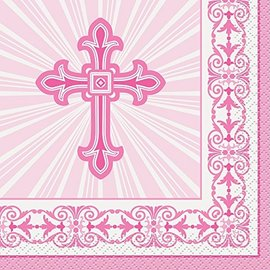 Beverage Napkins-Radiant Cross Pink-16pk-2ply