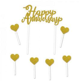 Cake Topper-Happy Anniversary-7pcs