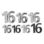 Foil Cutouts- 16th Birthday